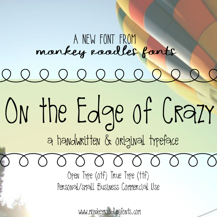 MRF On the Edge of Crazy Font poster