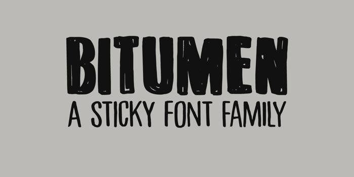 DK Bitumen Font poster