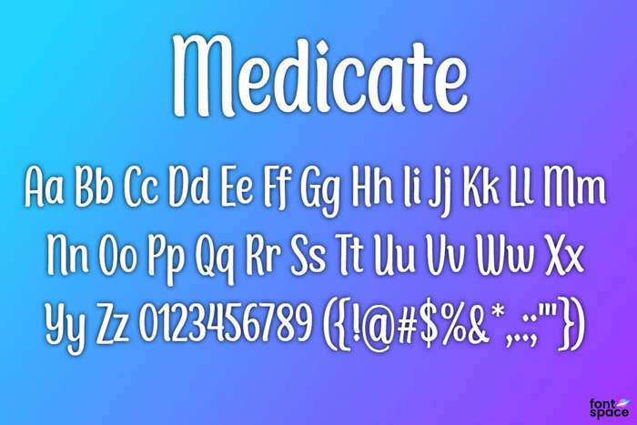 BB Medicate Font poster