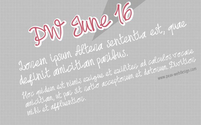 PWjune16 Font poster