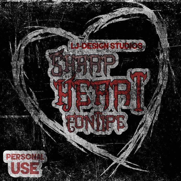 Sharp Heart Font poster