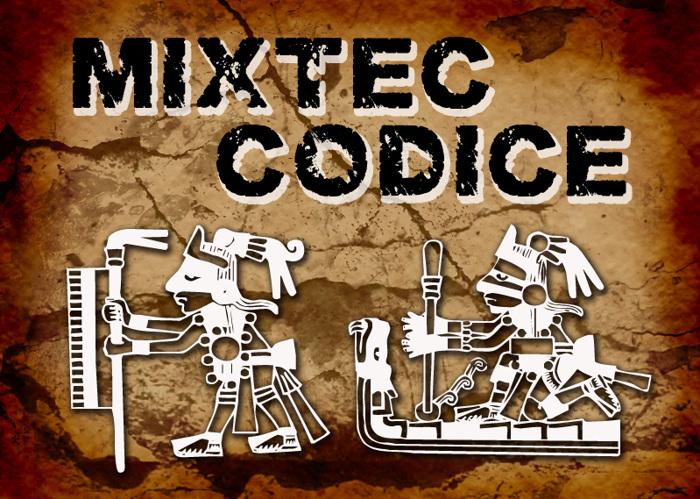 Mixtec Codice Font poster