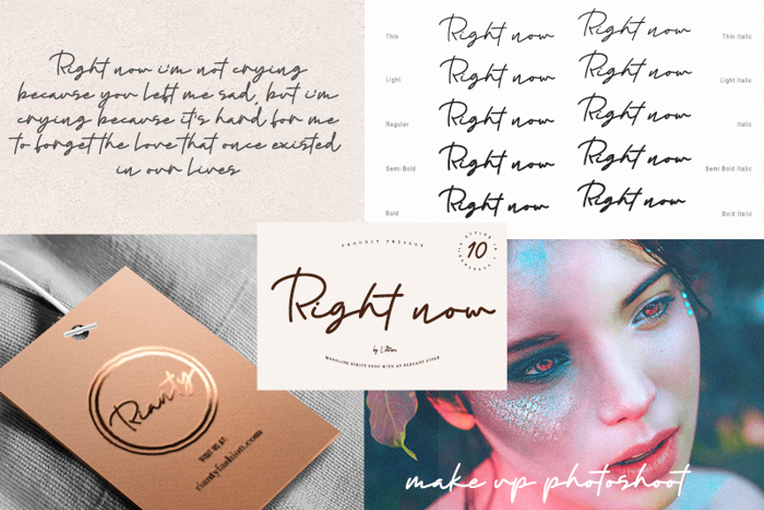 Right now Font poster