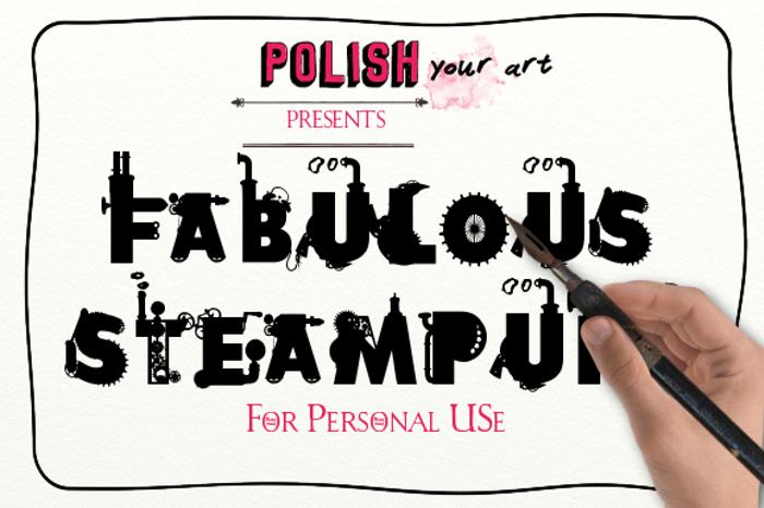 Fabulous Steampunk Font poster