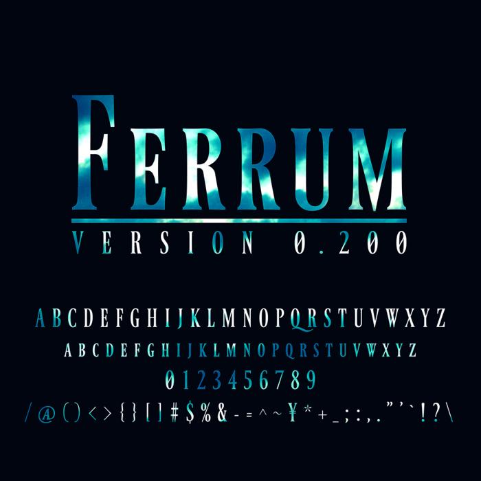 Ferrum Font poster