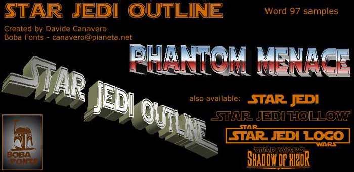 Star Jedi Outline Font poster