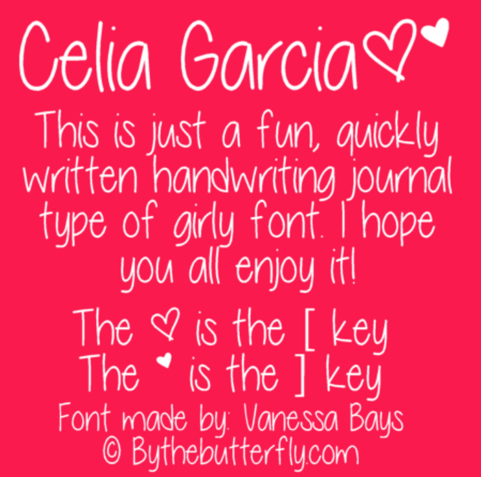 Celia Garcia Font poster