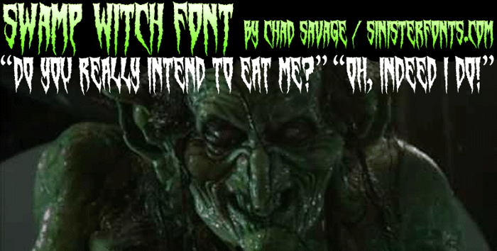 Swamp Witch Font poster