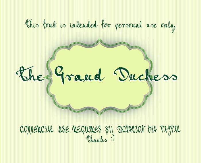 Grand Duchess Font poster