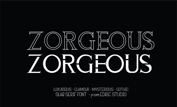 ZORGEOUS Font poster