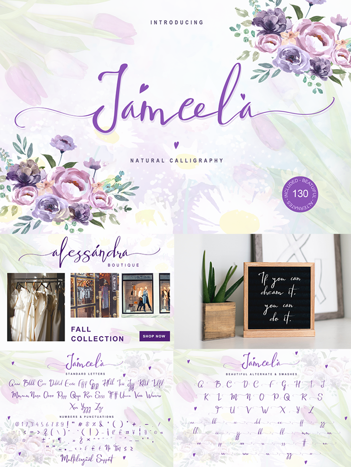 Jameela Font poster