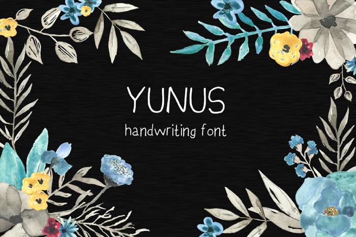 YunusH Font poster
