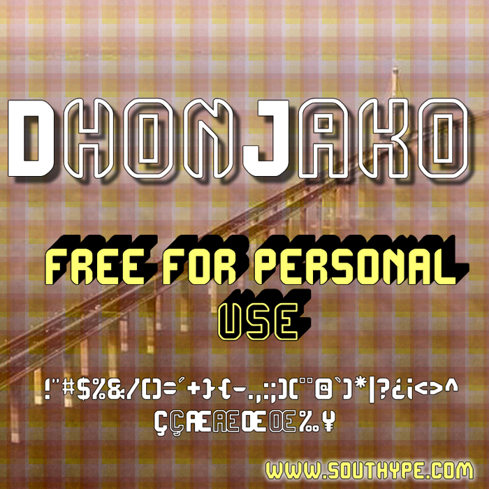 DhonJako St Font poster