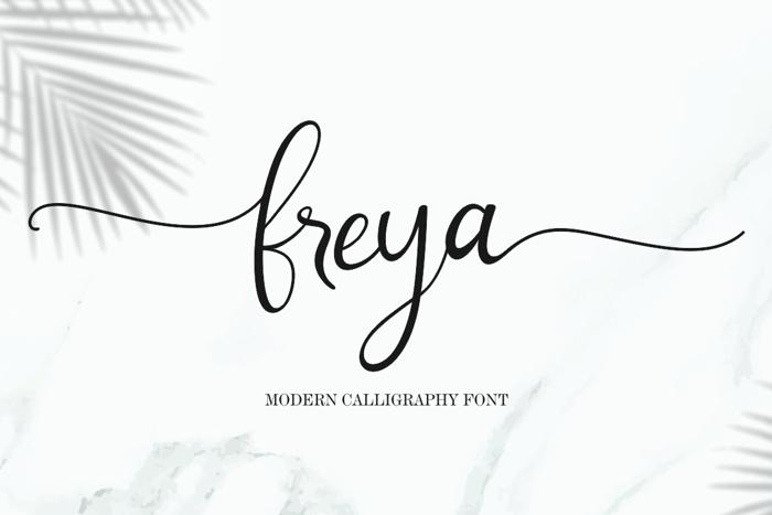 freya Font poster