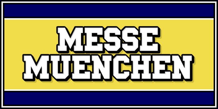 Messe Muenchen Font poster