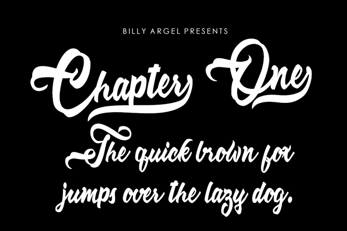 Chapter One Font poster