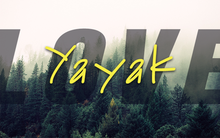 Yayak Font poster