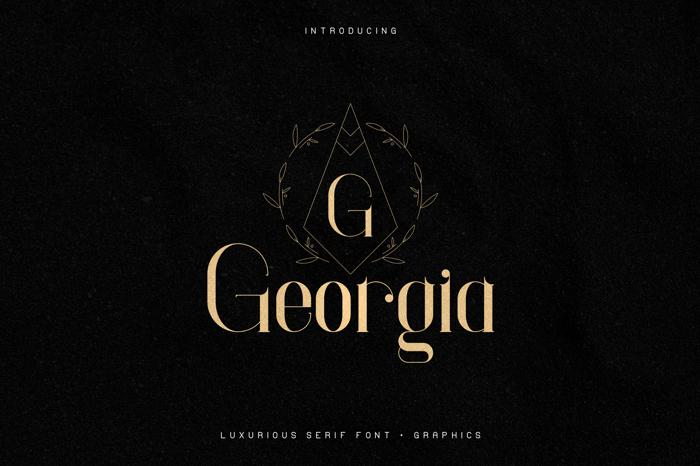 Georgia Font poster