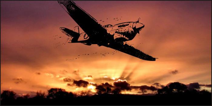 world war II warplanes 2 Font poster