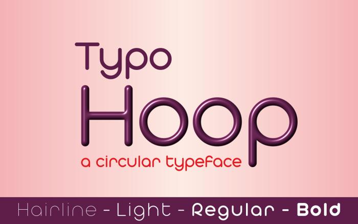 Typo Hoop Font poster