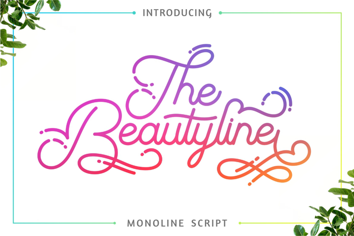 The Beautyline Font poster