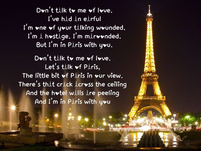 Love in Paris Font poster
