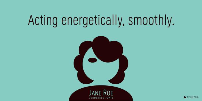 Jane Roe Font poster