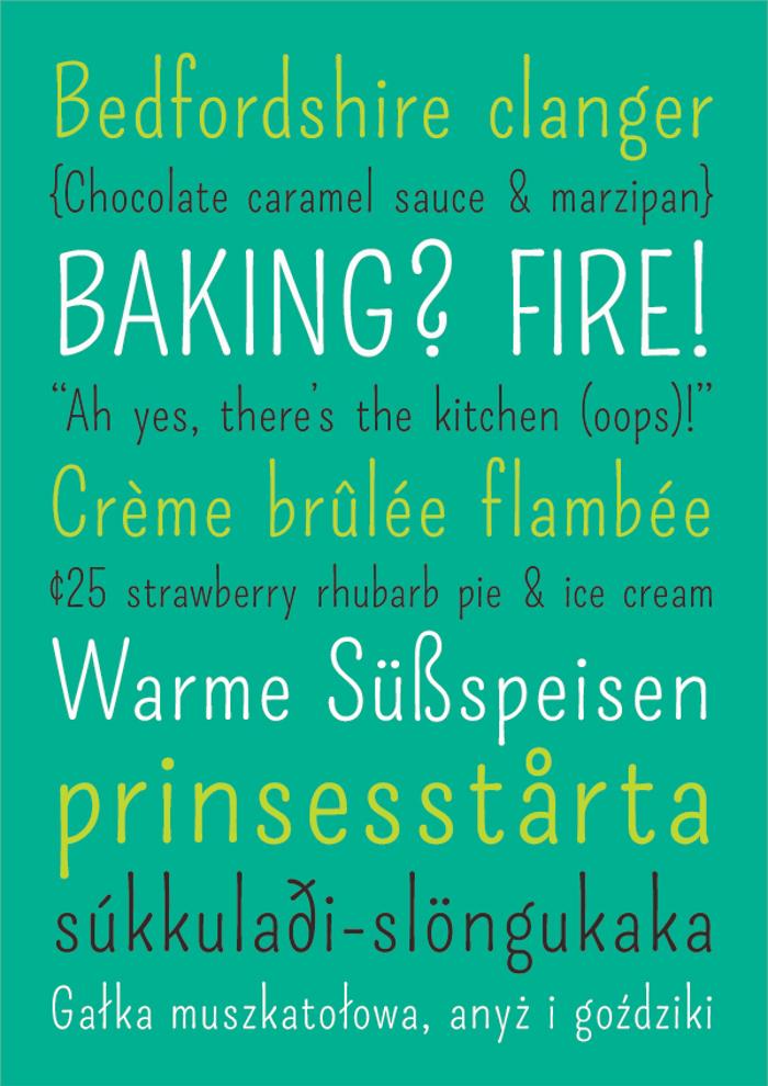 Pompiere  Font poster