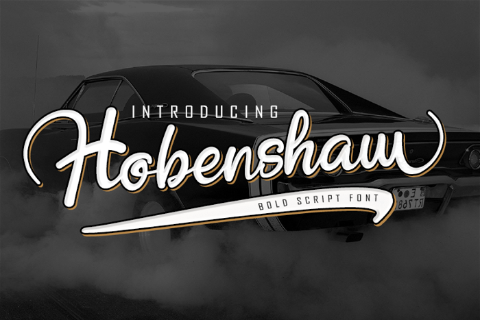 Hobenshaw Font poster