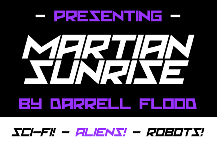 Martian Sunrise Font poster