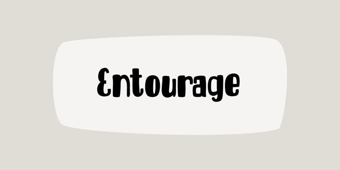 DK Entourage Font poster