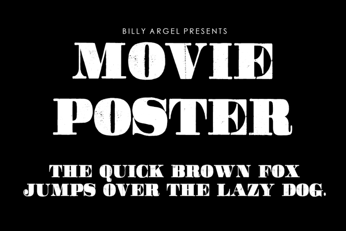 Movie Poster Font poster