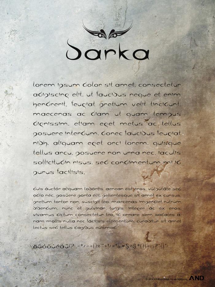 barka Font poster
