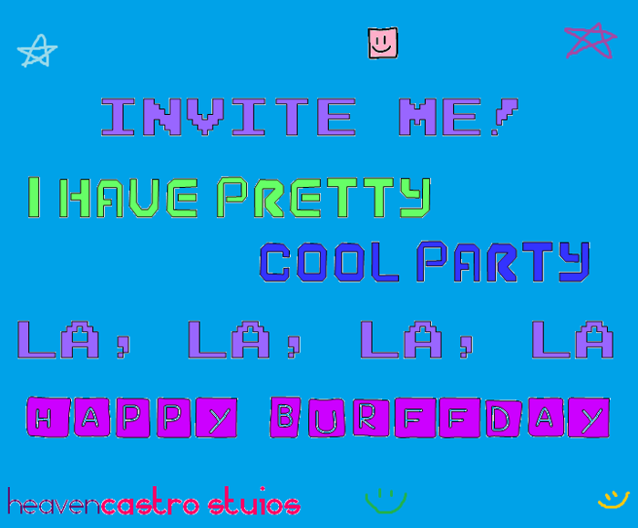 I Have Pretty Cool Party! Font poster