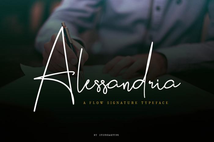Alessandria Font poster