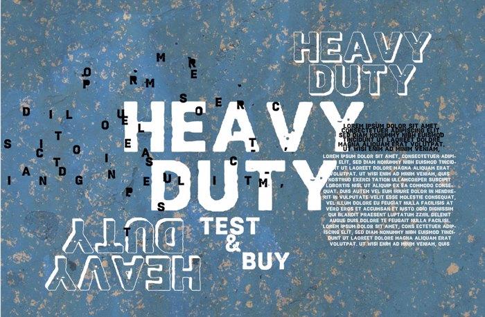 Vtks HeavyDuty Font poster
