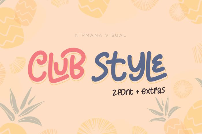 Club Style Font poster