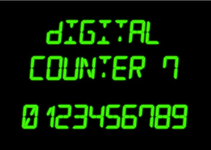 Digital Counter 7 Font poster