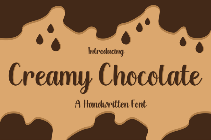 Creamy Chocolate Font poster