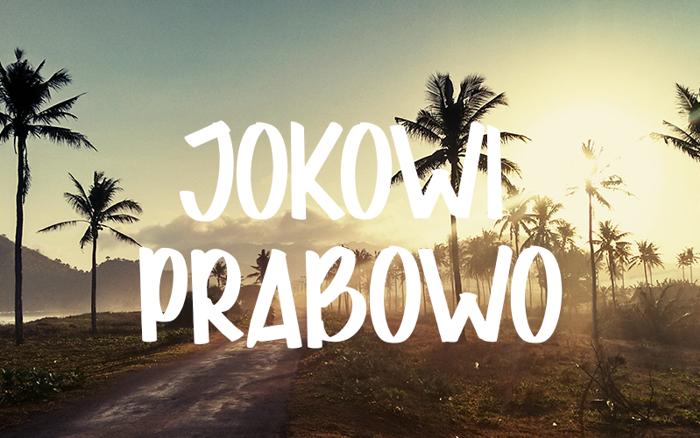 JOKOWI PRABOWO Font poster