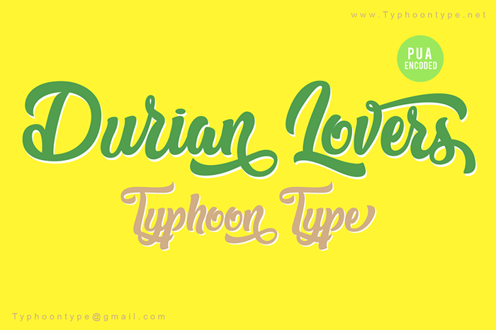 Durian Lovers Font poster