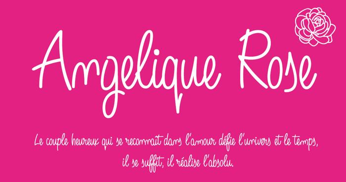 Angelique Rose Font poster