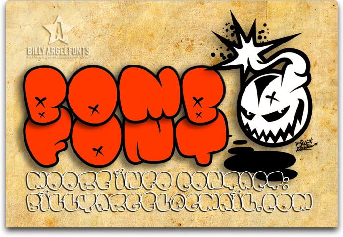BOMB FONT poster