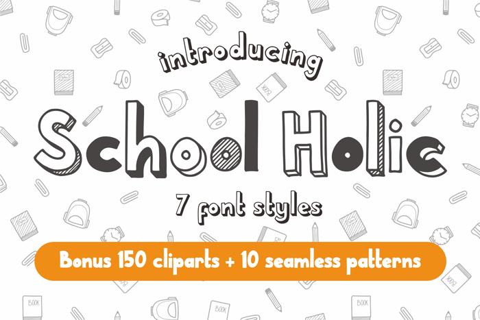 School Holic Font poster