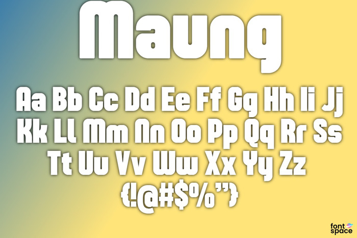 Maung Font poster