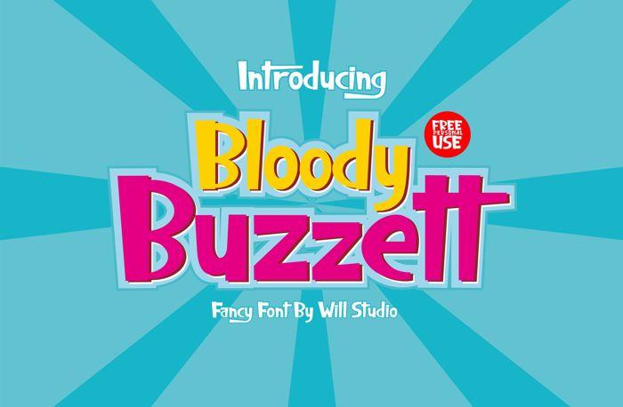 Bloody Buzzett Font poster