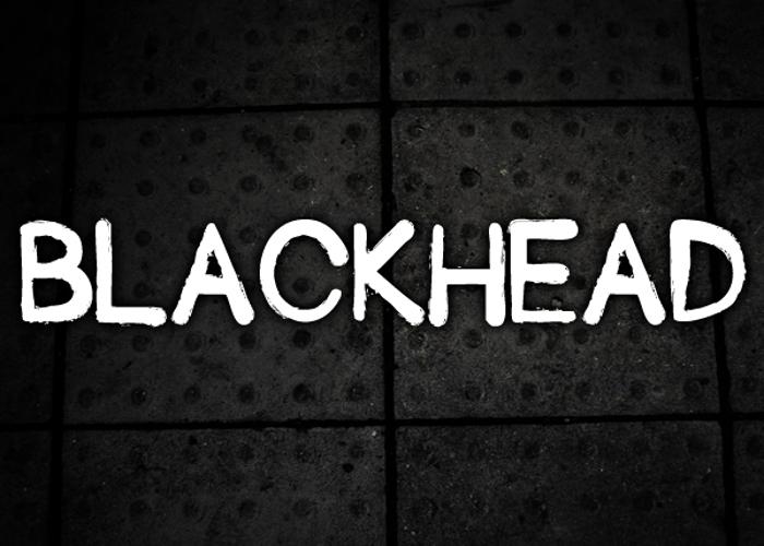 Blackhead Font poster