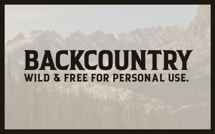 Backcountry Font poster