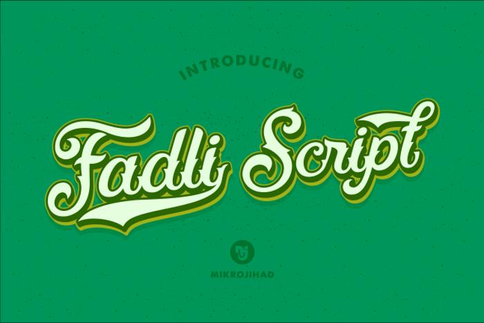Fadli Script Font poster