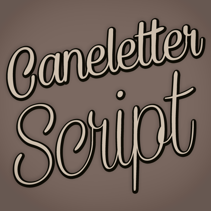 Caneletter Script Font poster